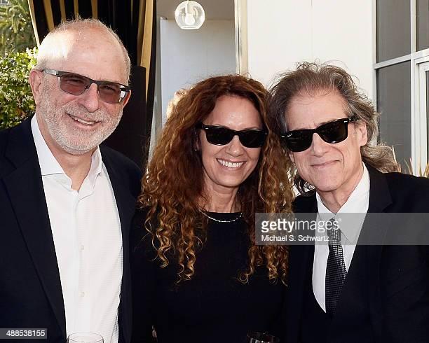 A Bundle of Nerves DVD producer Jonathan Gross Joyce Lapinsky and comedian Richard Lewis attend the Richard Lewis Bundle Of Nerves DVD Launch Party...