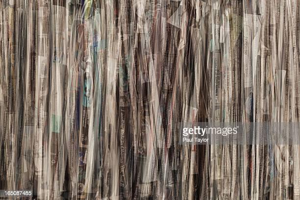 Bundle of Newspapers Closeup