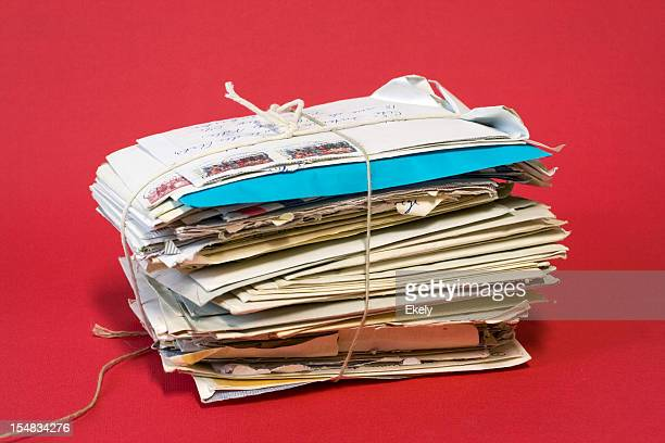 Bundle of old love letters.