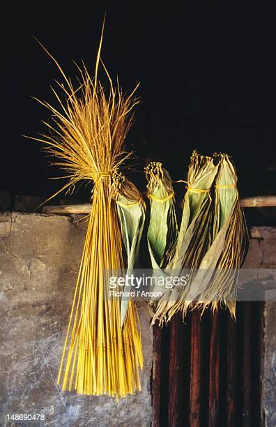 Bundle of rice straw in house, Yangdi, near Yangshou.