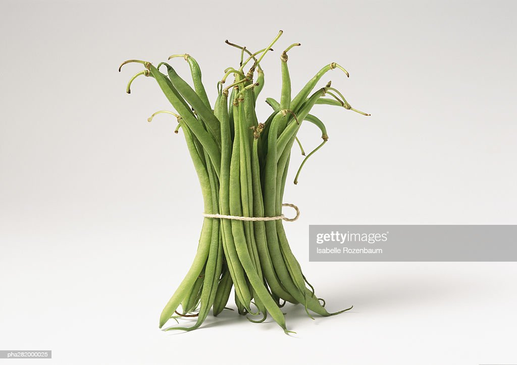 Bundle of string beans : Stock Photo