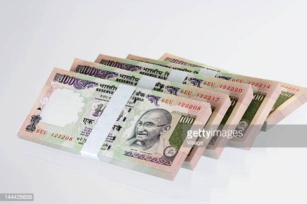Bundles of Indian Hundred Rupees
