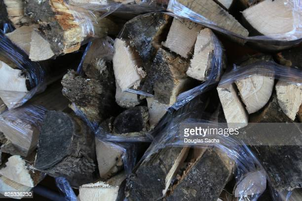 Bundles of split type firewood