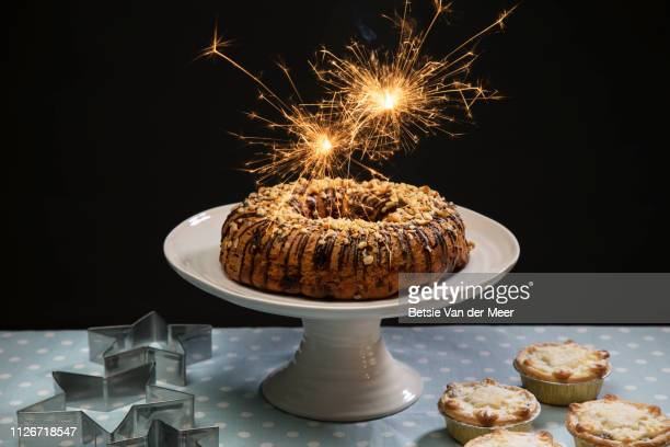 Groovy Cake Sparkler Stock Pictures Royalty Free Photos Images Getty Funny Birthday Cards Online Fluifree Goldxyz