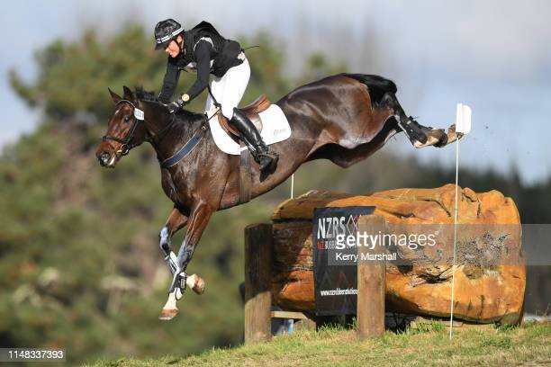 Bundy Philpott rides Shillings in the CCI 3* during the National Three Day Event Championships on May 11 2019 in Taupo New Zealand