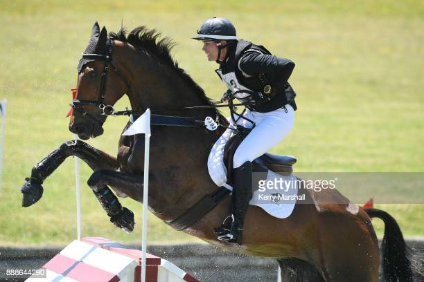 Bundy Philpott rides Tresca NZPH in teh CCI*** cross country phase during the Puhinui International Horse Trials on December 9 2017 in Auckland New...