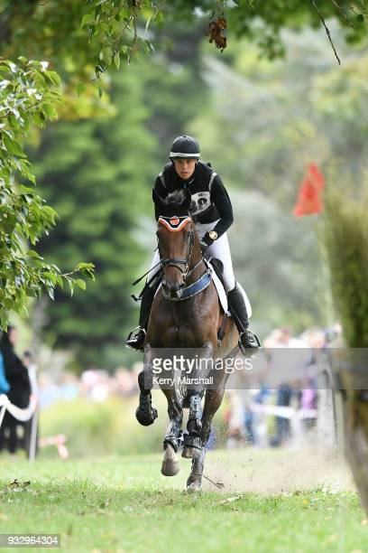 Bundy Philpott rides Tresca NZPH in the CIC3* Eventing Cross Country phase during New Zealand Horse of the Year on March 17 2018 in Hastings New...