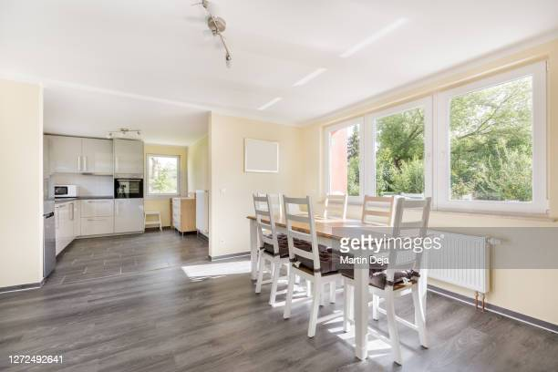 bungalow living room hdr - east germany stock pictures, royalty-free photos & images