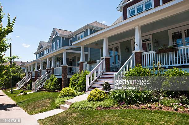 bungalow porches - southern usa stock pictures, royalty-free photos & images