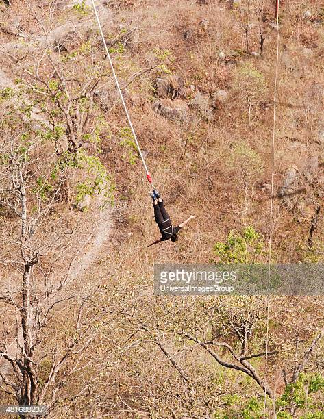 Bungee jumping at Rishikesh Uttarakhand India