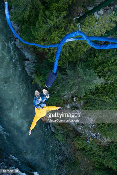 Bungee jumping.