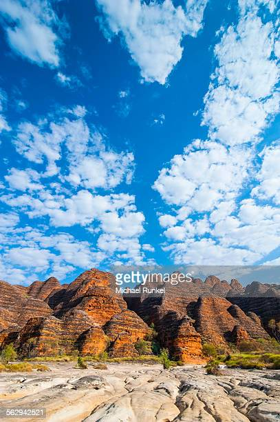 bungle bungles, beehive-shaped sandstone towers, purnululu national park, unesco world heritage site, eastern kimberleys, western australia - international landmark stock pictures, royalty-free photos & images