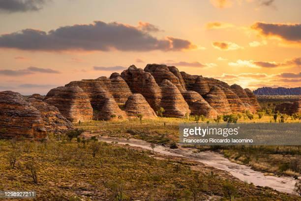 bungle bungles, purnululu national park, kimberley region, western australia, australia. sunset scenic view - australia stock pictures, royalty-free photos & images