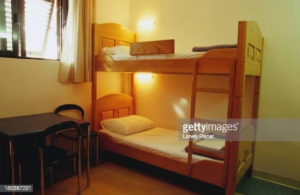 Bunk bed in YHA Hostel room.