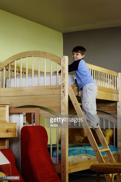 Bunk Beds with Playful Child