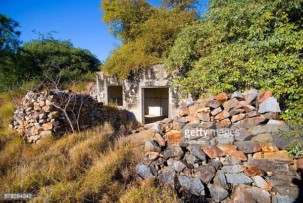 Bunker constructed in the Second World War to store munitions In all 42 bunkers were made on Towers Hill Charters Towers Queensland Australia
