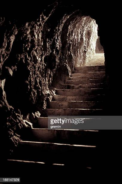 wwi bunker, slovenia - dungeon stock photos and pictures