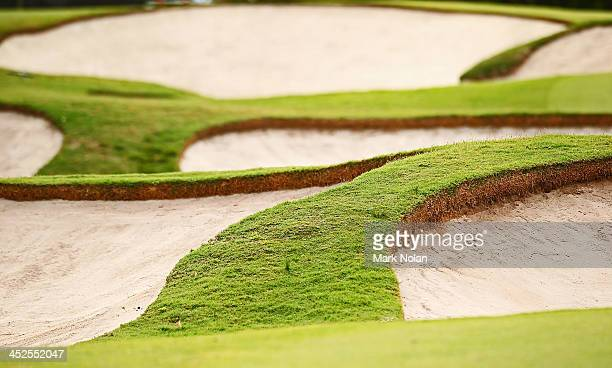 Bunkers are picture during day three of the Australian Open at Royal Sydney Golf Club on November 30 2013 in Sydney Australia
