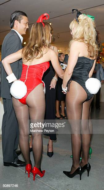 Bunnies attend 'Playboy Gold' Playboy fashion auction and party to benefit DIFFA at Milk Gallery May 25 2004 in New York City