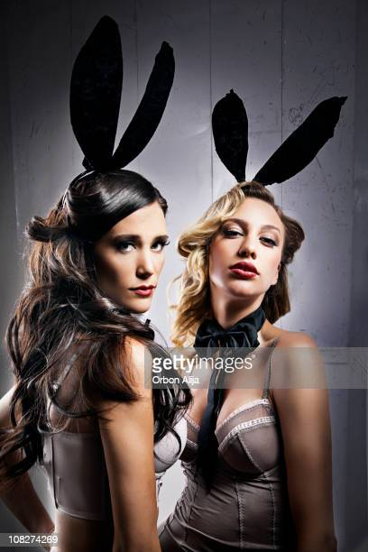 bunnies - animal costume stock pictures, royalty-free photos & images
