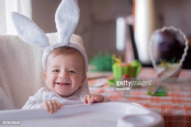 bunny baby boy - coniglietto foto e immagini stock