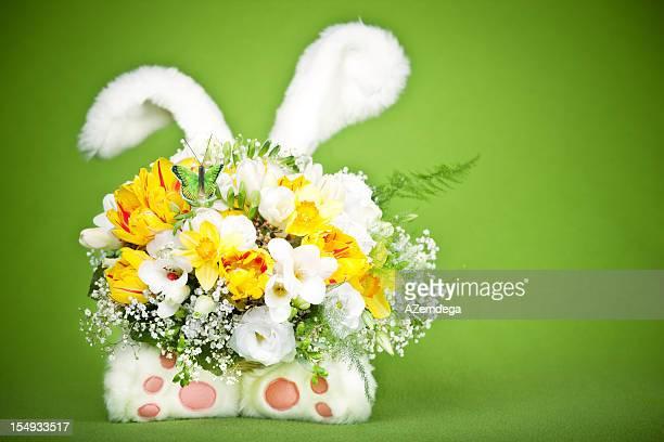 Bunny aportado flores
