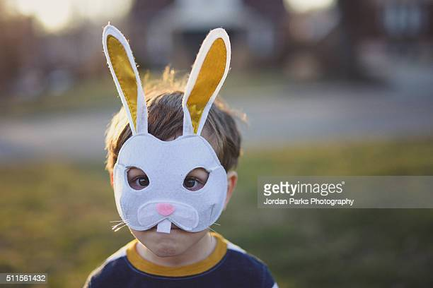 bunny ears - easter bunny costume stock pictures, royalty-free photos & images