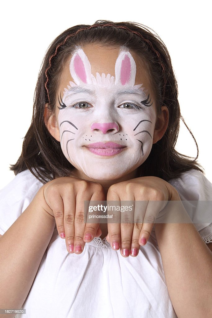 Bunny Face Paint. Bunny Face Paint  Stock Photo Getty Images