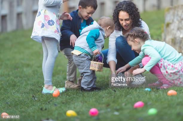 Bunny in Backyard Easter Egg Hunt!