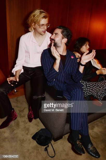 Bunny Kinney and Jack Guinness attend Alexa Chung's CHUNGSGIVING dinner to celebrate Thanksgiving and the launch of her exclusive ALEXACHUNG holiday...