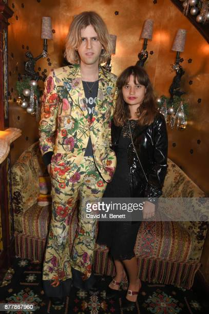 Bunny Kinney and Tiger Lily Geldof attend the Nick Cave The Bad Seeds x The Vampires Wife x Matchesfashioncom party at Loulou's on November 22 2017...