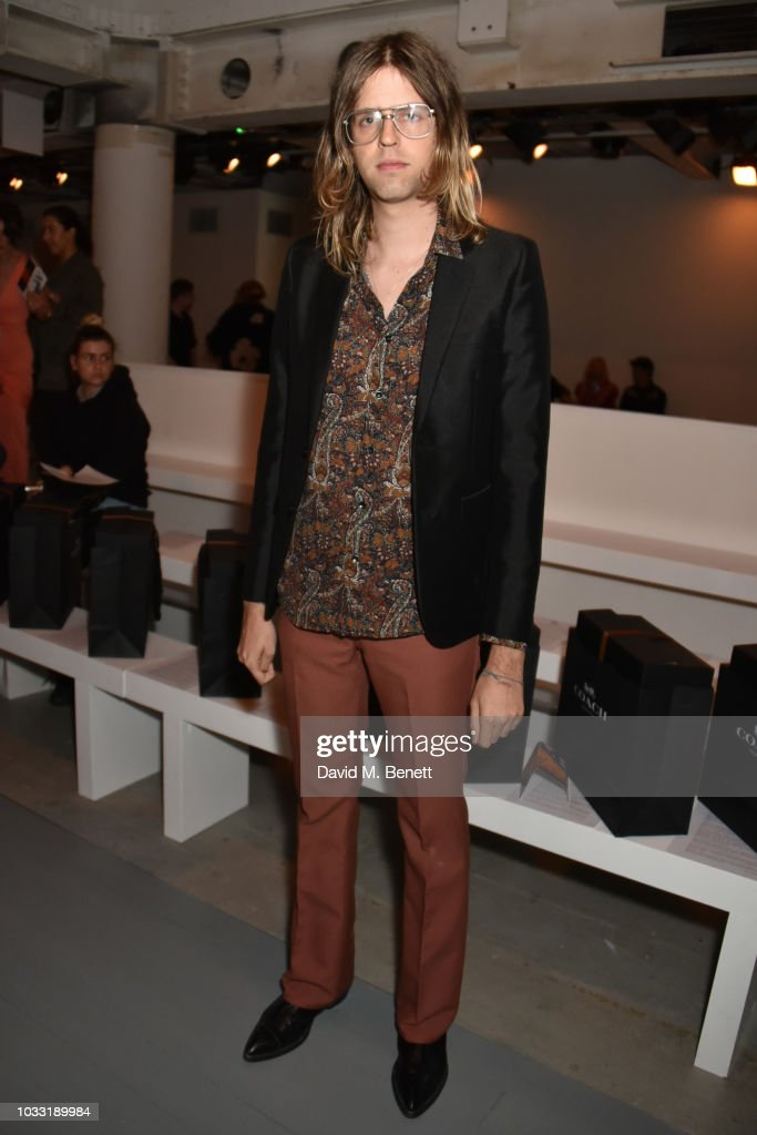 Bunny Kinney attends the Matty Bovan front row during London Fashion Week September 2018 at the BFC Show Space on September 14, 2018 in London, England.