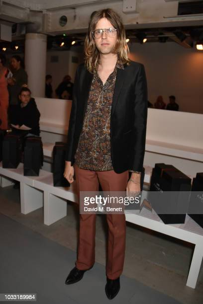 Bunny Kinney attends the Matty Bovan front row during London Fashion Week September 2018 at the BFC Show Space on September 14 2018 in London England