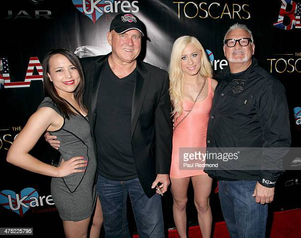 Bunny Ranch owner Dennis Hof and Joey Buttafuoco attend the 7th Annual Toscars Awards Show at the Egyptian Theatre on February 26 2014 in Hollywood...
