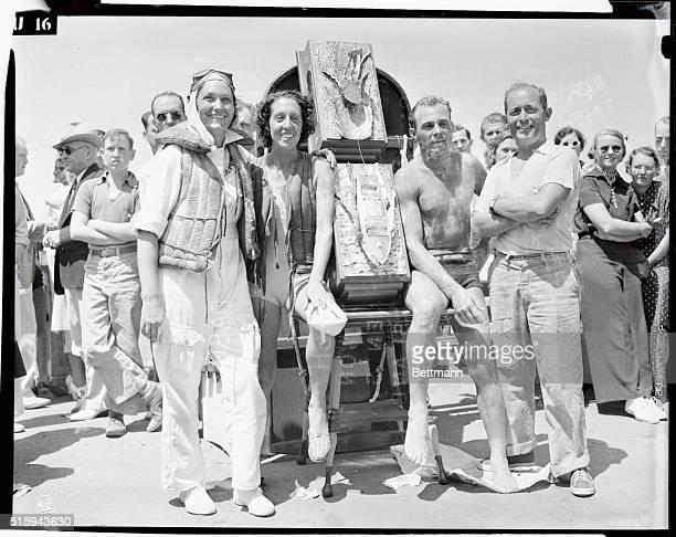 AQUAPLANE DASH Bunny Seawright won the women's class Bob Brown the men's in the 32 mile dash from Catalina Island to ManhattanHermosa Beach...