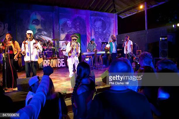 Bunny Wailer singing at Bourbon Beach Bar Negril Westmoreland Jamaica