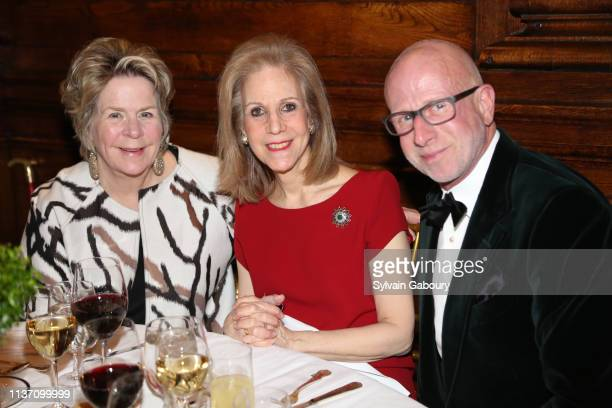 Bunny Williams Nancy Druckman and Jamie Drake attend New York School Of Interior Design Annual Gala at The University Club on March 5 2019 in New...