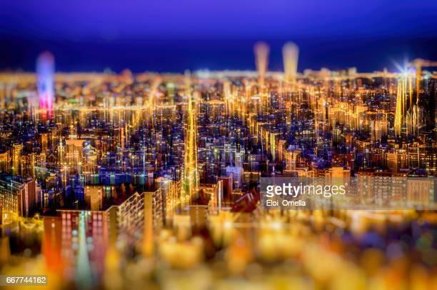vista de la ciudad de barcelona las arcones bunquers del carmel