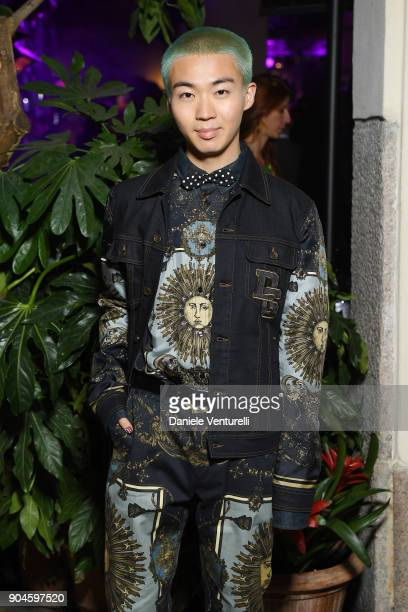 Bunta Shimizu attends the Dolce Gabbana Unexpected Show during Milan Men's Fashion Week Fall/Winter 2018/19 on January 13 2018 in Milan Italy