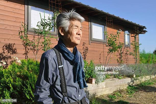 Bunta Sugawara is photographed in his farm on September 29 2014 in Hokuto Yamanashi Japan Bunta Sugawara a Japanese actor best known for his yakuza...