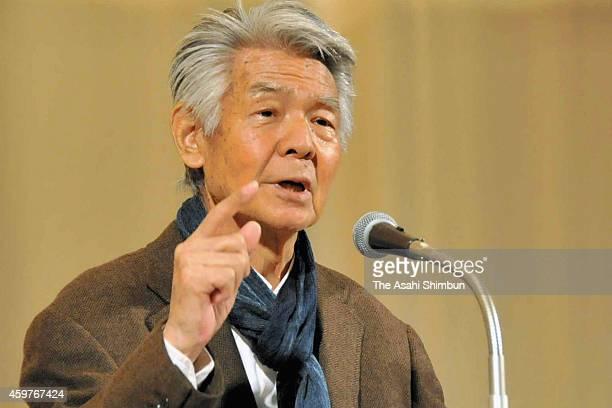 Bunta Sugawara speaks about his experience during the World War II on September 13 2014 in Morioka Iwate Japan Bunta Sugawara a Japanese actor best...