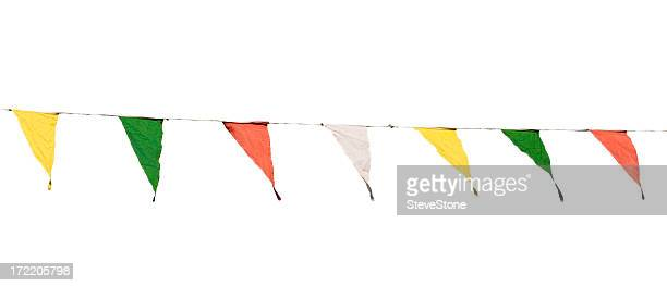 Bunting isolated on white