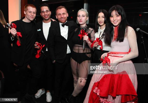 Burak Cakmak poses with student award winners during the 71st Annual Parsons Benefit honoring Pharrell, Everlane, StitchFix & The RealReal on May 20,...