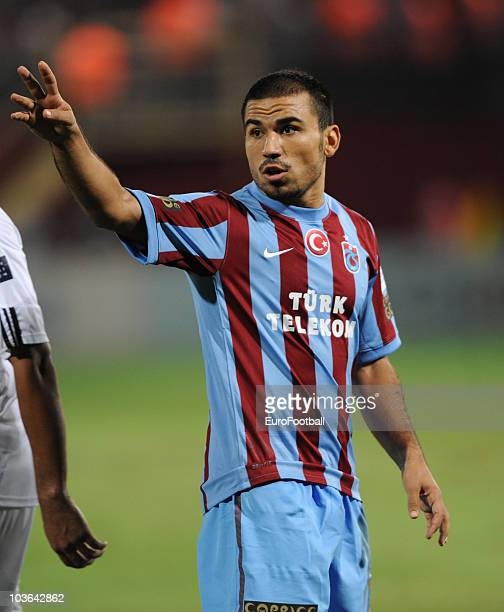 Burak Yilmaz of Trabzonspor AS during the Spor Toto Super League match between Trabzonspor AS and Fenerbahce SK held at the Avni Aker Stadium on...