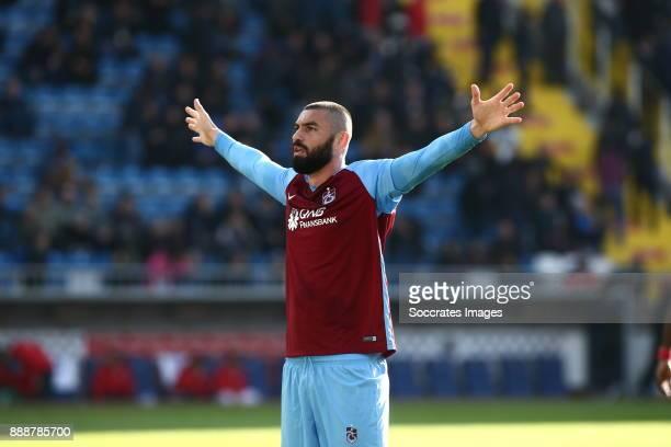 Burak Yilmaz of Trabzonspor celebrates 10 during the Turkish Super lig match between Kasimpasaspor v Trabzonspor at the Recep Tayyip Erdoganstadion...