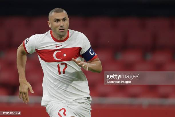 Burak Yilmaz of Turkey during the World Cup Qualifier match between Holland v Turkey at the Johan Cruijff Arena on September 7, 2021 in Amsterdam...