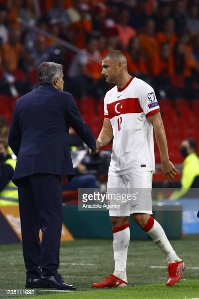 Burak Yilmaz of Turkey is seen during the 2022 FIFA World Cup Qualifiers Group G soccer match between Netherlands and Turkey at the Johan Cruijff...