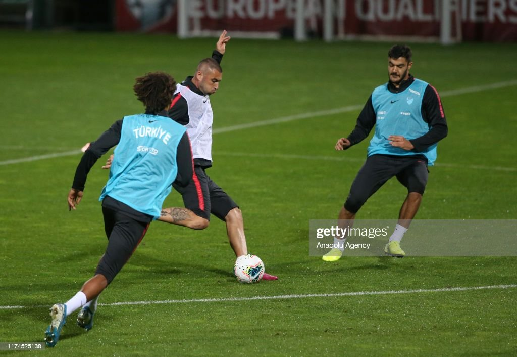 Turkey's national football team training : News Photo