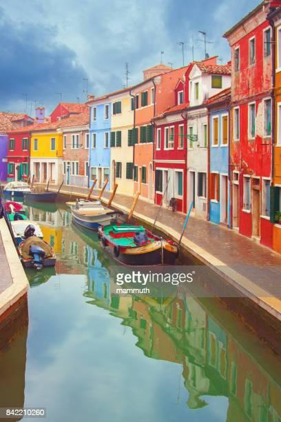 Burano, a small fishing village close to Venice, Italy