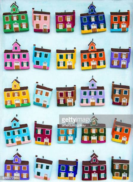 Burano houses belonging to the magnet